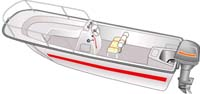 Saltwater fishing boats, center console boat