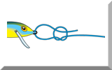 Connecting lures to mono line with the rapala knot