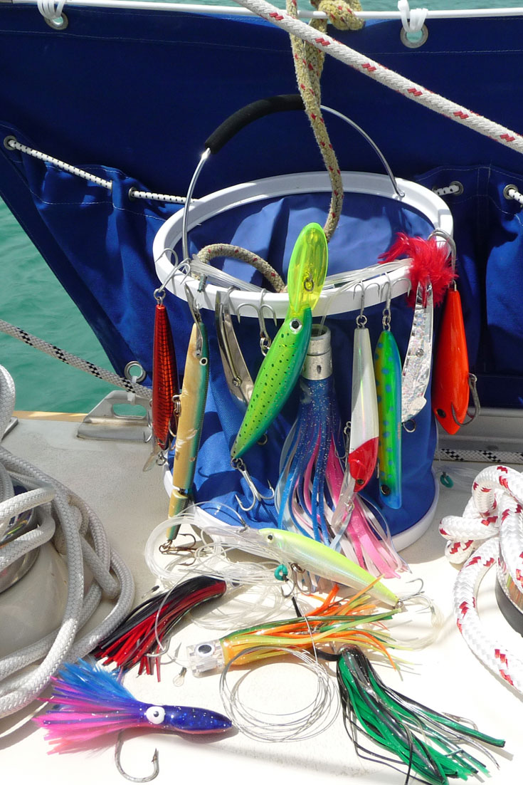 Selection of trolling lures