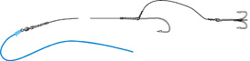The Stinger Rig is two hooks rigged line astern, intended to catch short-biting fish.