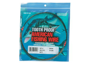 American Fishing Wire Stainless Steel Single-Strand Toothproof Leader Wire