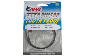 American Fishing Wire Titanium Tooth Proof Leader Wire