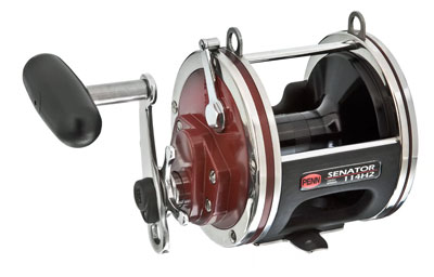 A typical conventional reel intended for boat fishing.