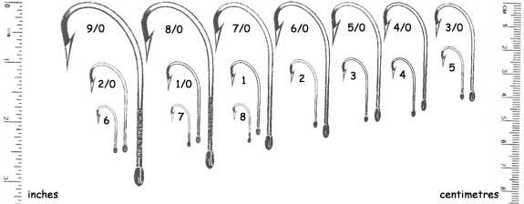 Fish Hook Size Chart