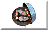 Thumbnail sketch - Fish steaks in barbecue